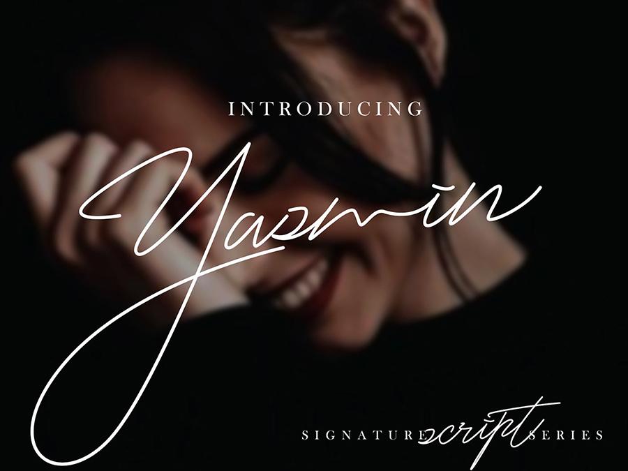 Yasmin Handlettering Script