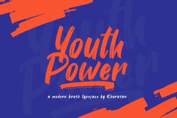 Youth Power Modern Brush Font