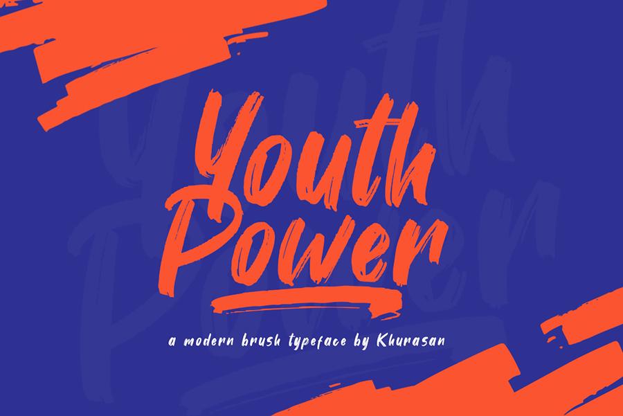 Youth Power Modern Brush Font