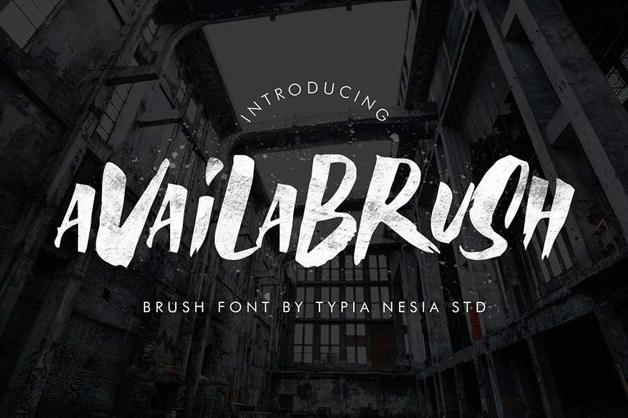 Availabrush Display Brush Font