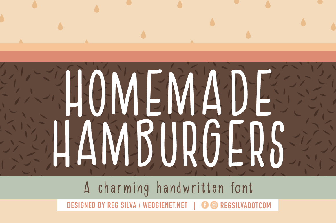Homemade Hamburger Font