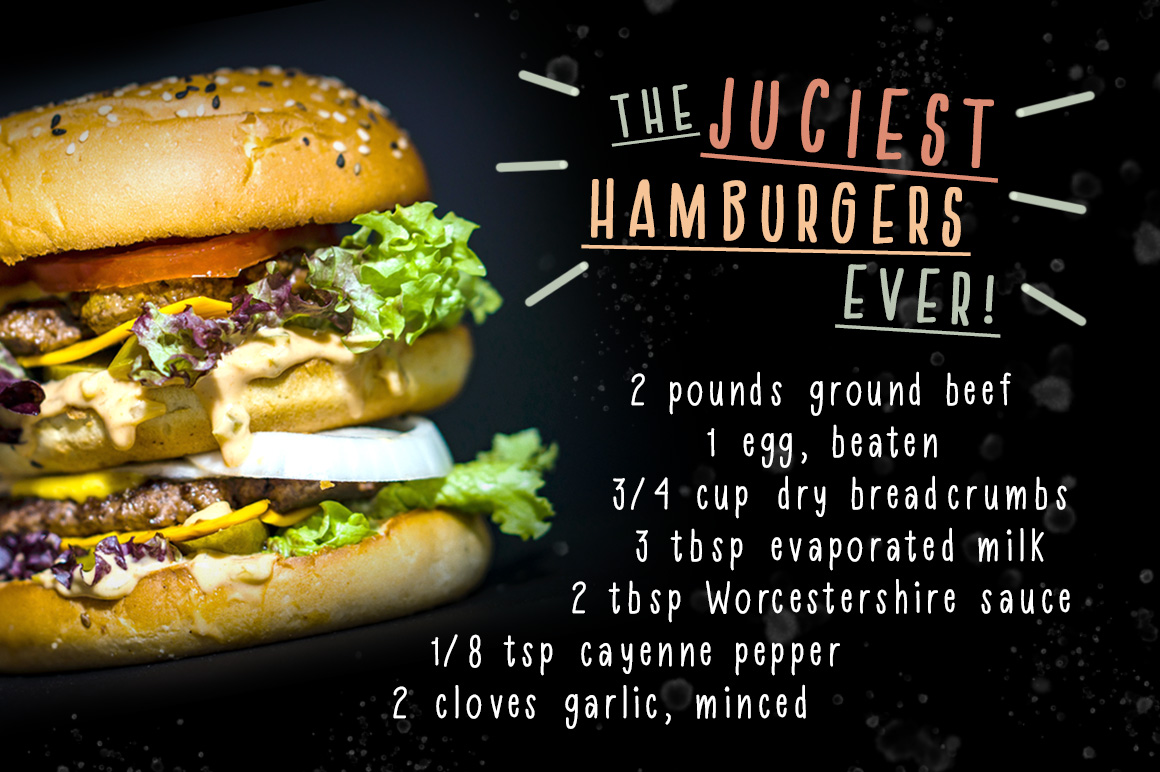 Homemade Hamburger Font