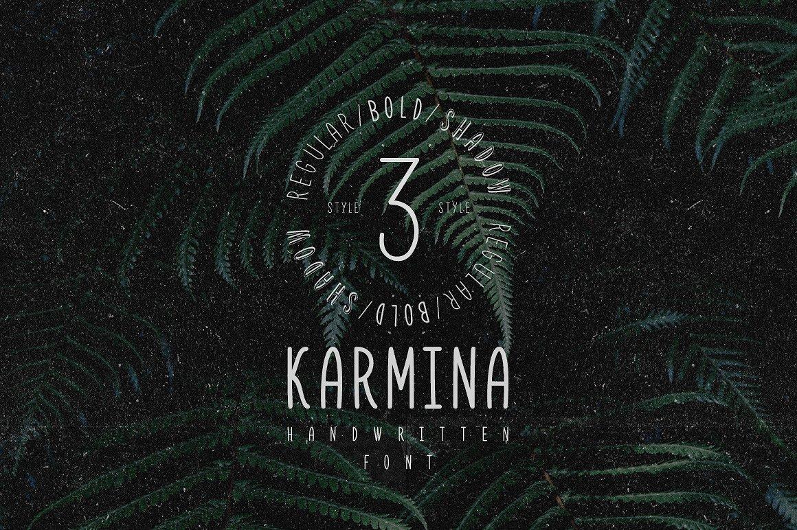 Karmina – Handwritten Font