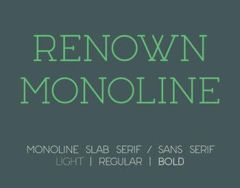 Renown Monoline Font Demo