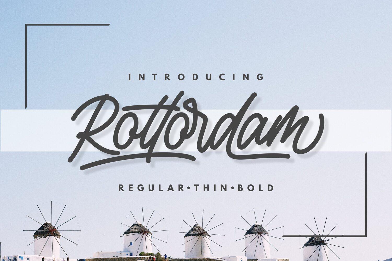 Rottordam Handlettering Font