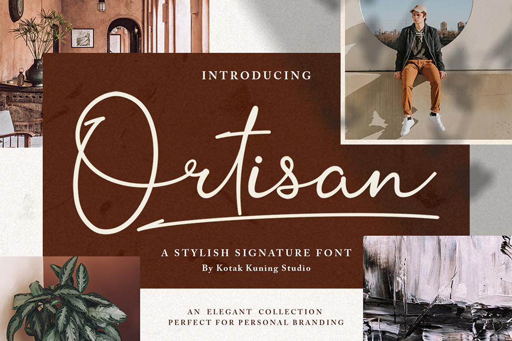Free Ortisan Signature Font