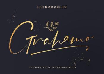 Grahamo – Luxury Script Font