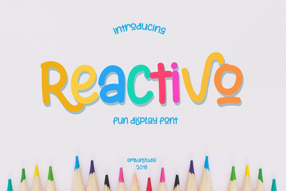 Reactivo Fun Display Font