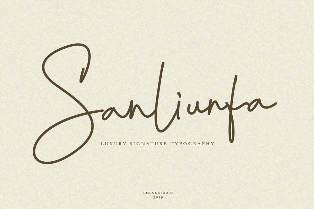 Sanliurfa Luxury Signature Font