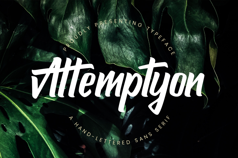 Attemptyon Hand-Lettered Free Sans Serif Font