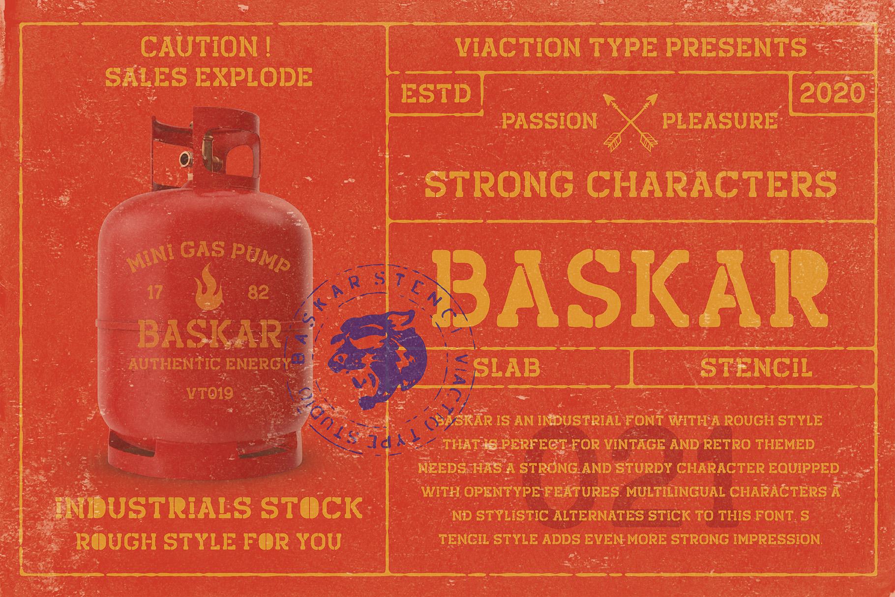 Baskar Free Font