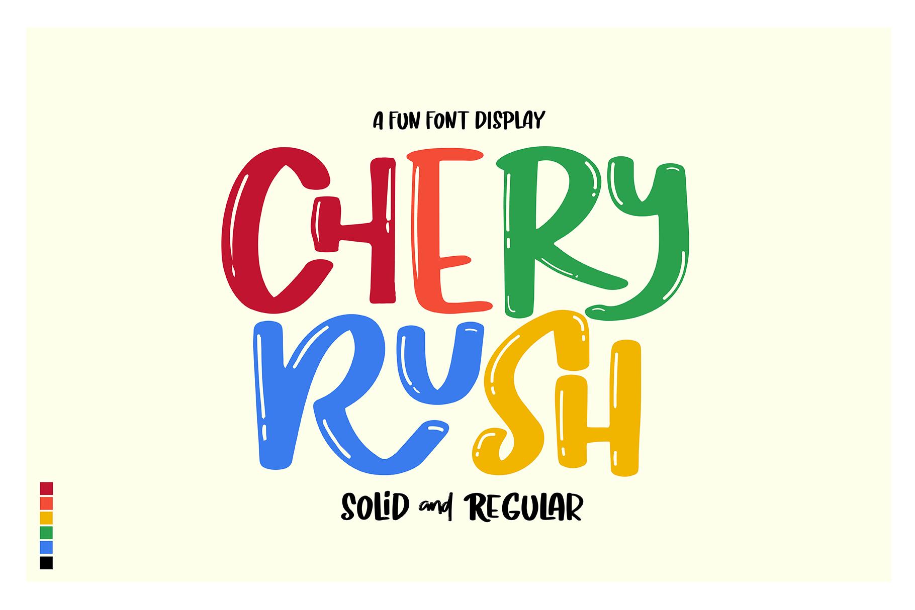 Chery Rush Free Font
