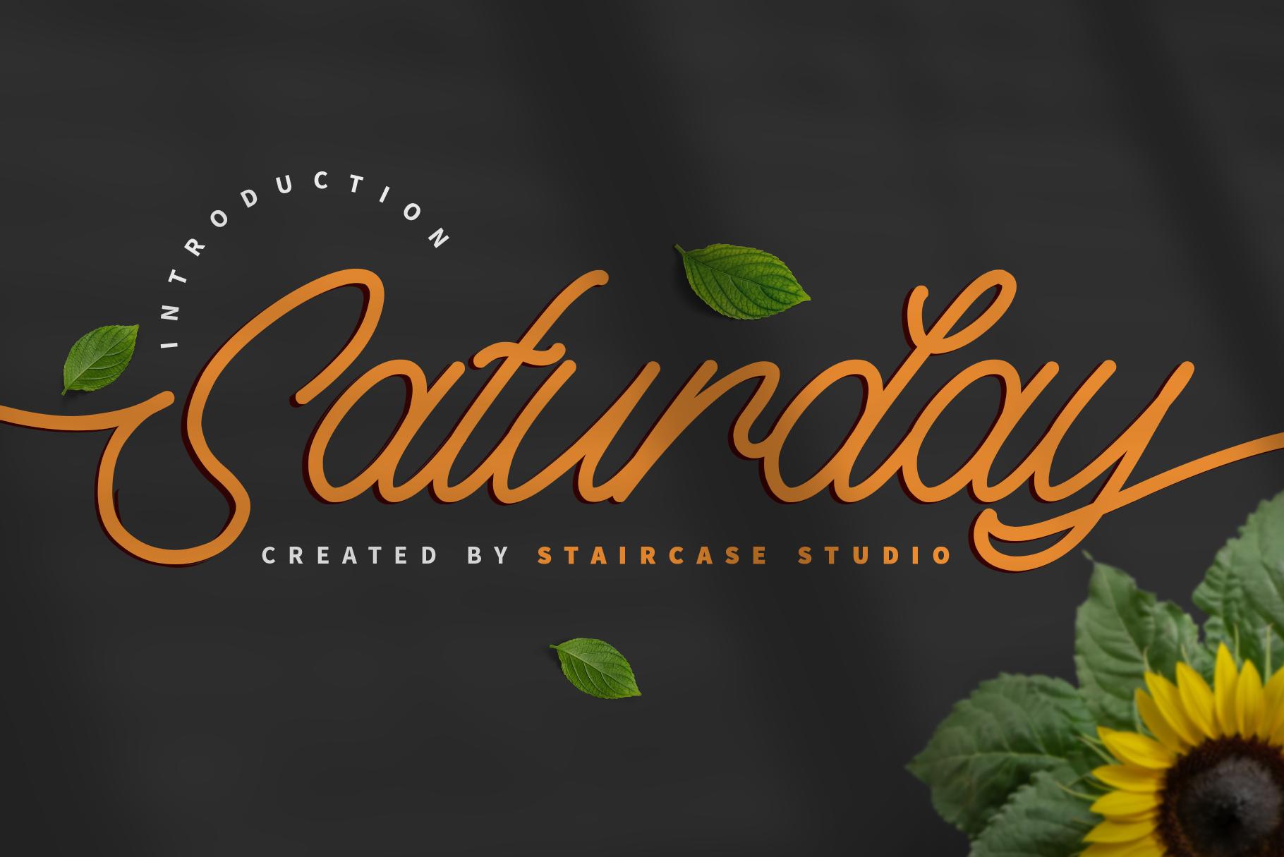 Free Font Saturday