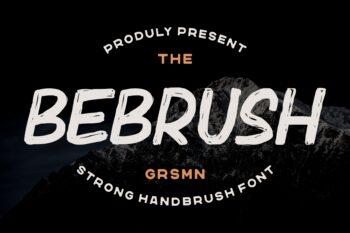 Bebrush Free Font