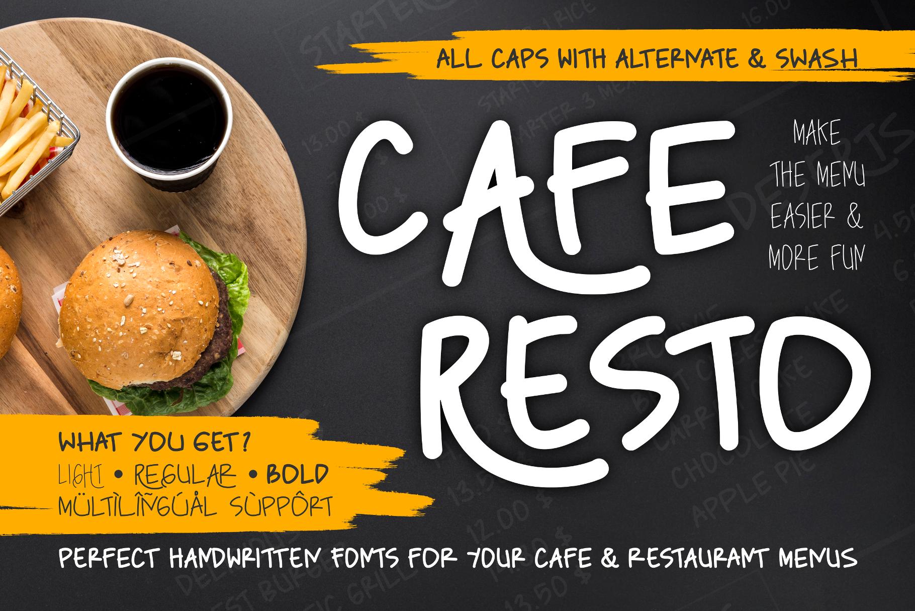 Caferesto Free Font