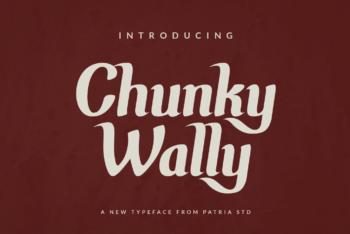 Chunky Wally Free Font