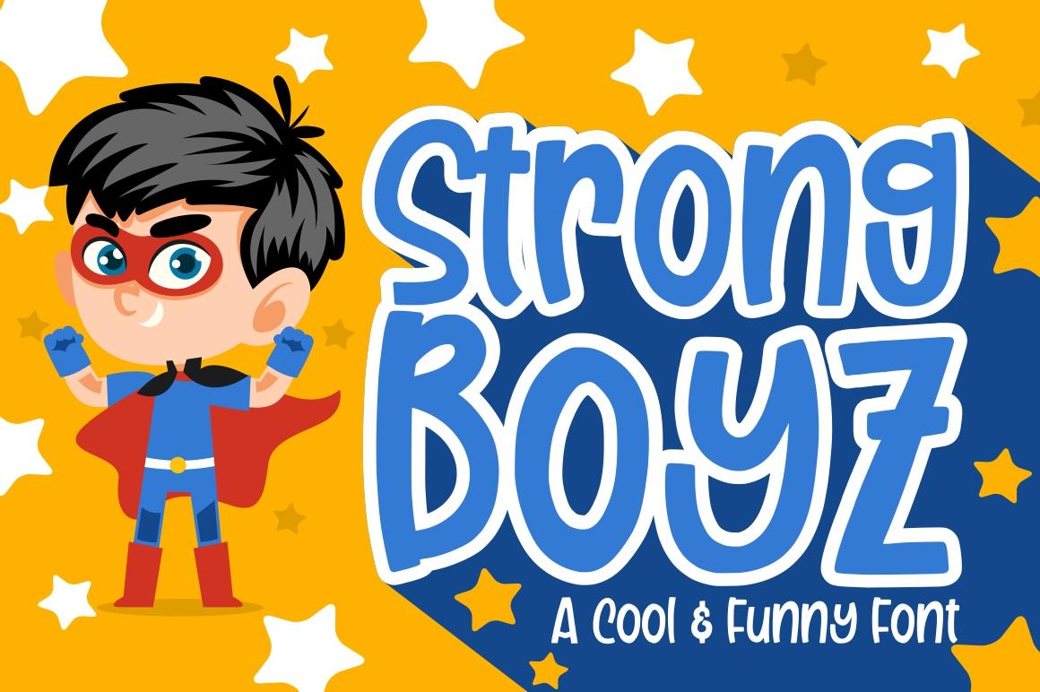Free Font Strong Boyz