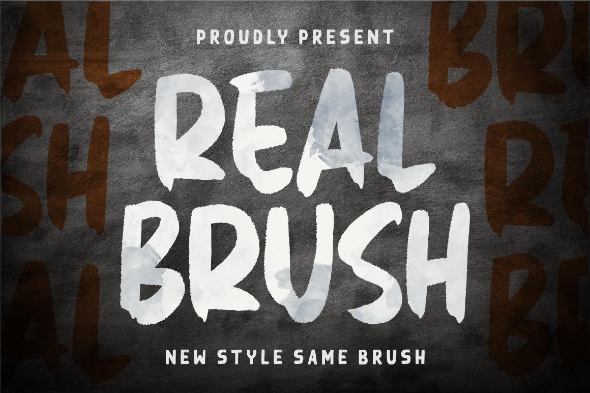 Real Brush Free Font