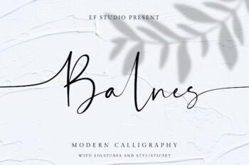 Balnes Free Font