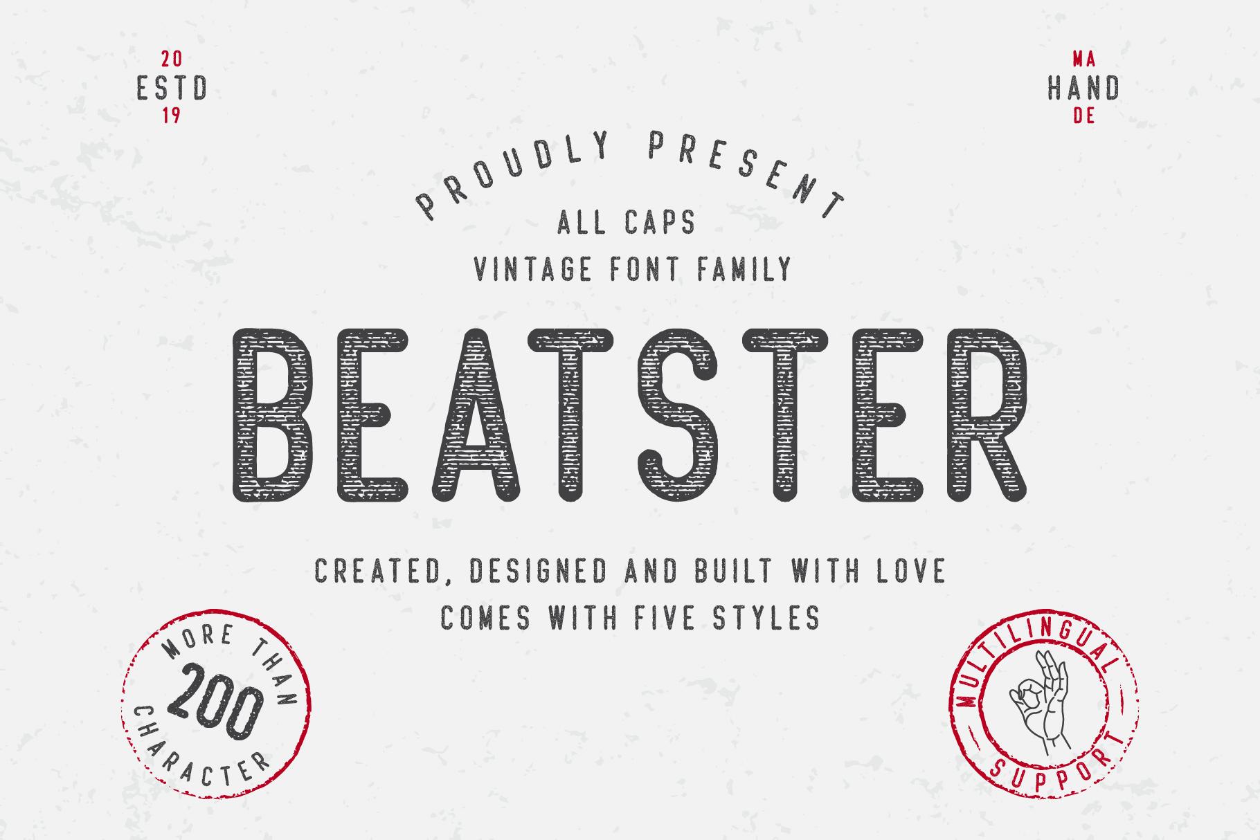 Beatster Free Font Free Font