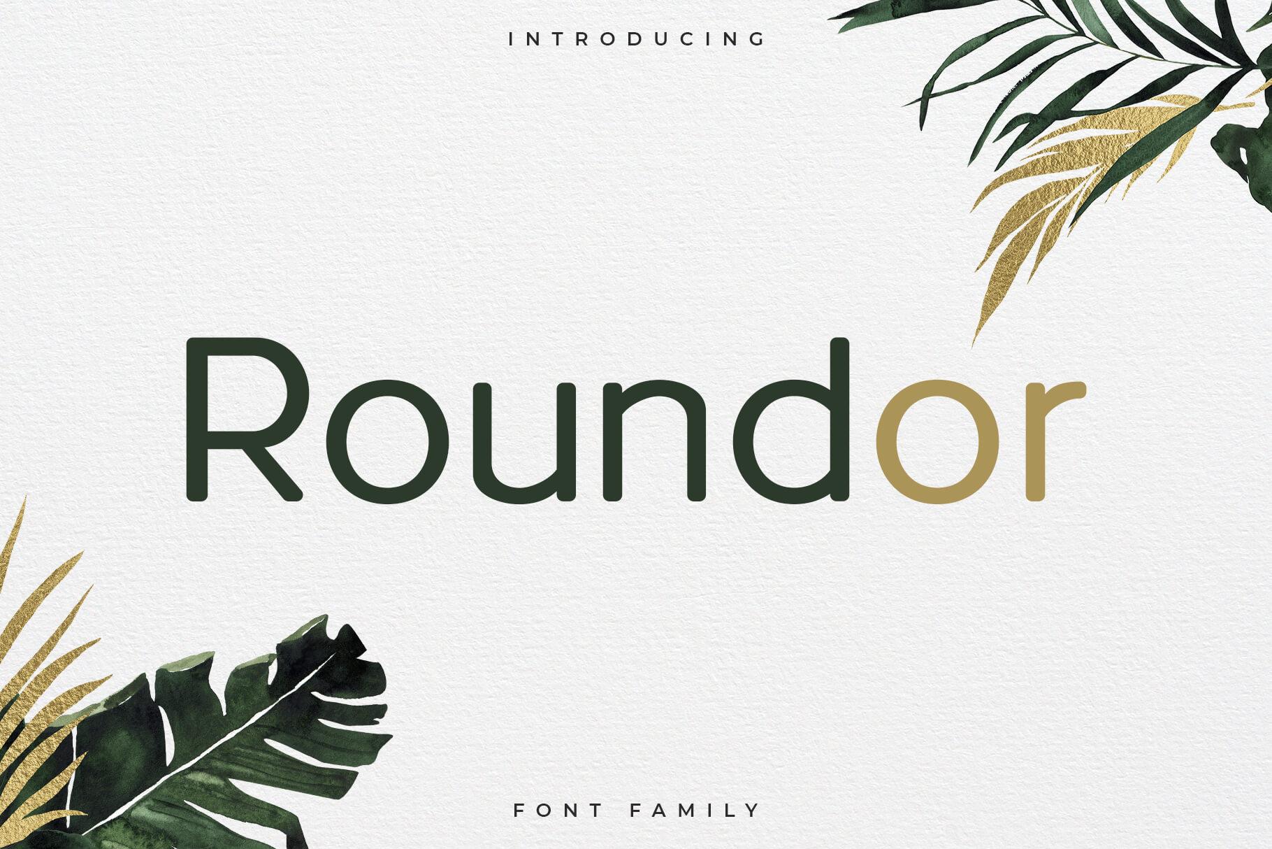 Roundor Free Font Family