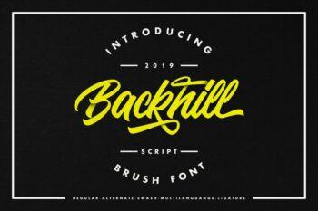 Backhill Free Font