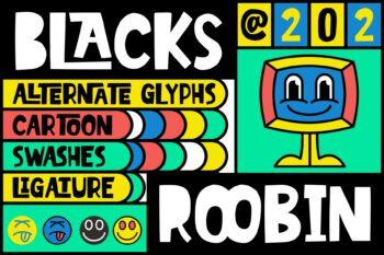 Blacks Roobin Free Font
