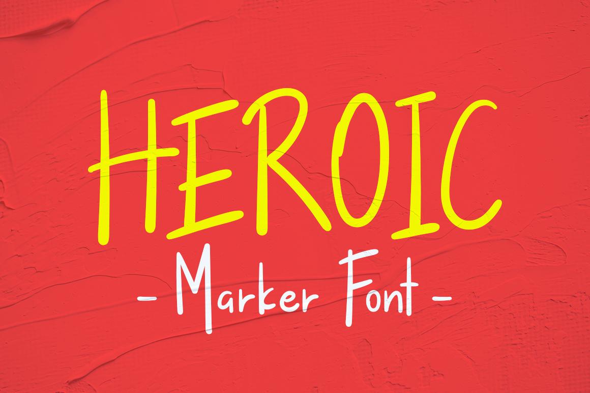 Heroic Free Font