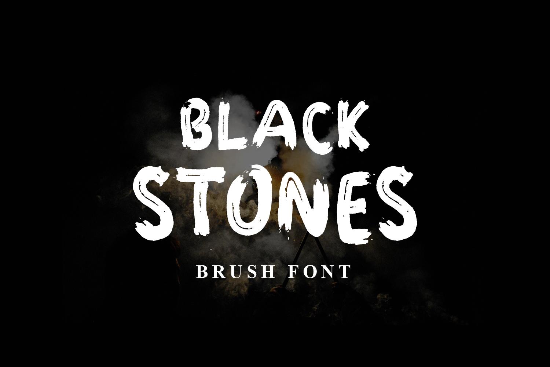 Black Stones Free Font