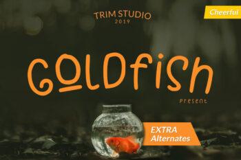 Goldfish Free Font