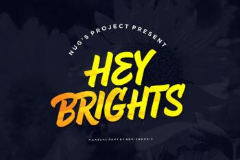 Hey Brights Free Font