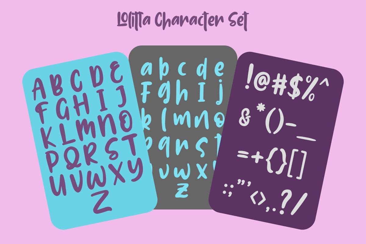 Lolitta Free Font