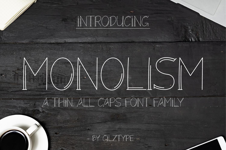 Monolism Free Font