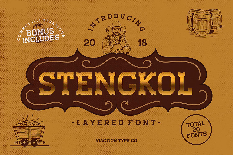 Stengkol Free Font