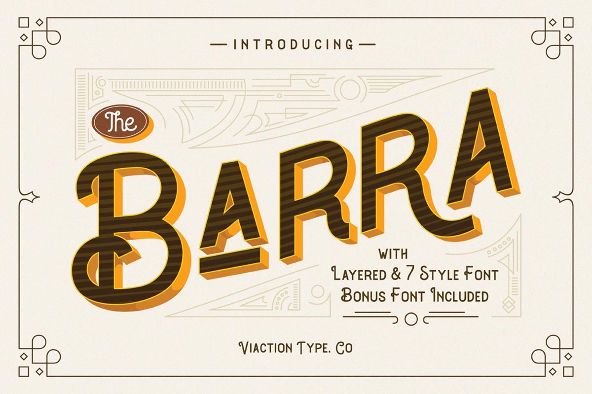 The Barra Free Font
