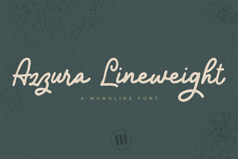 Azzura Lineweight Free Font