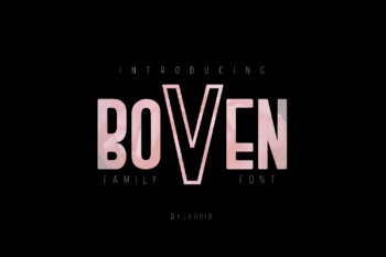 Boven Free Font