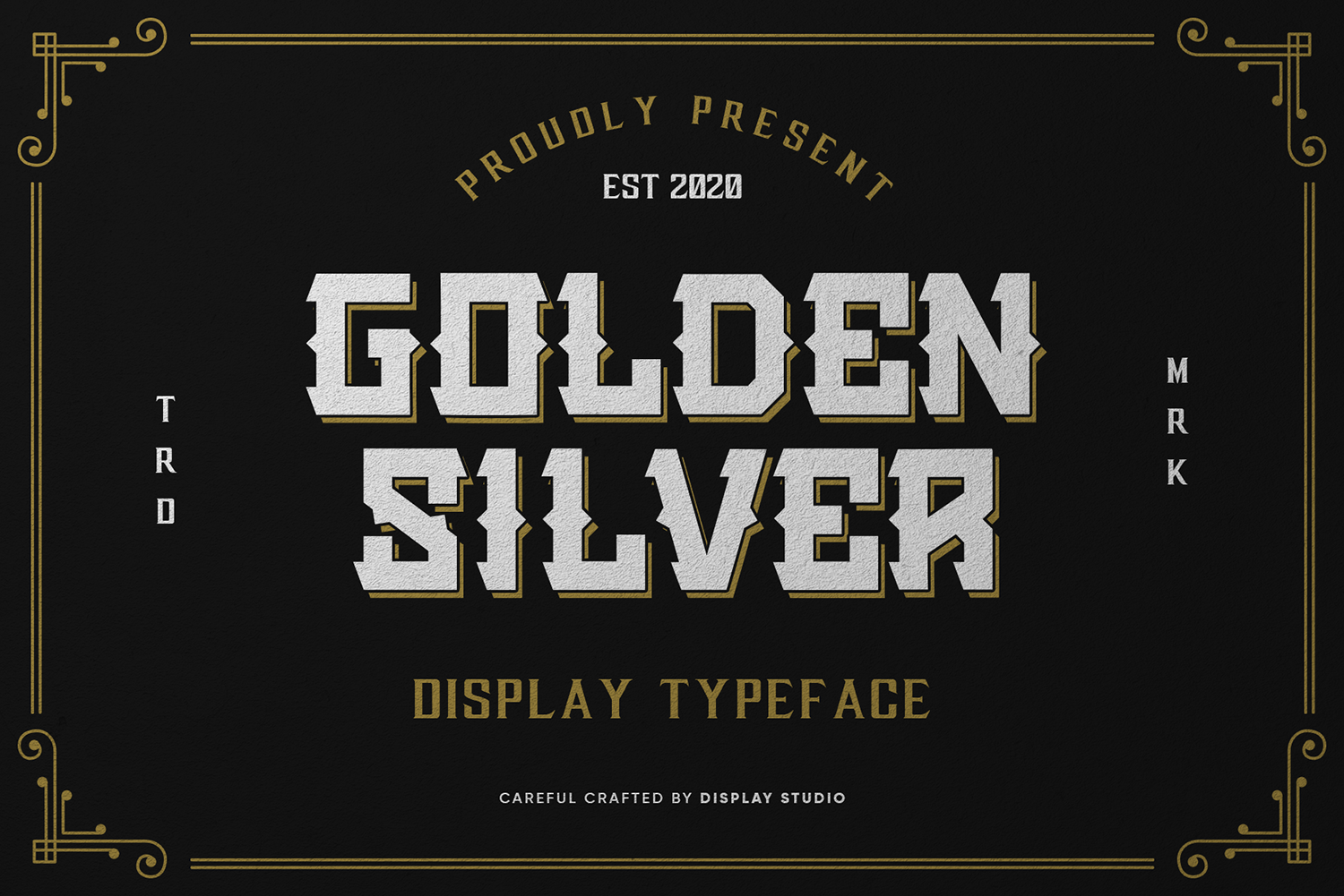 Golden Silver Free Font