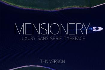Mensionery Thin Free Font