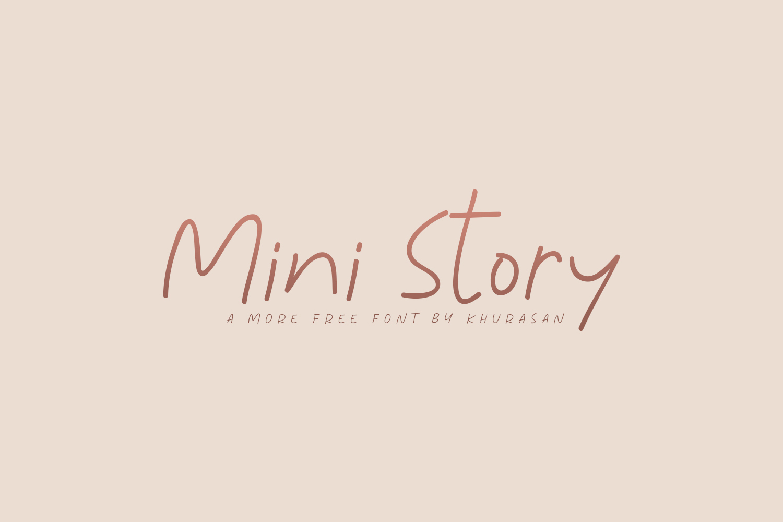 Mini Story Free Font