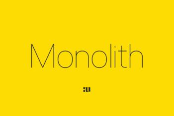 Monolith Sans Free Font