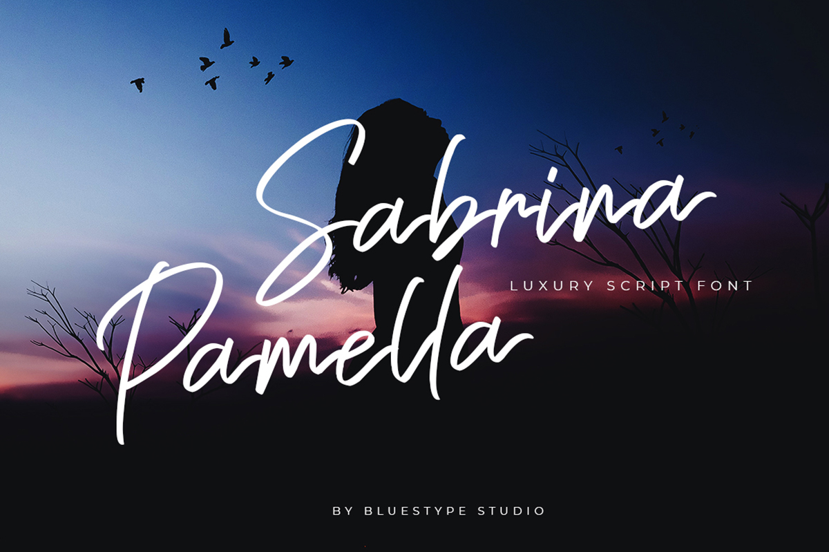 Sabrina Pamella Free Font