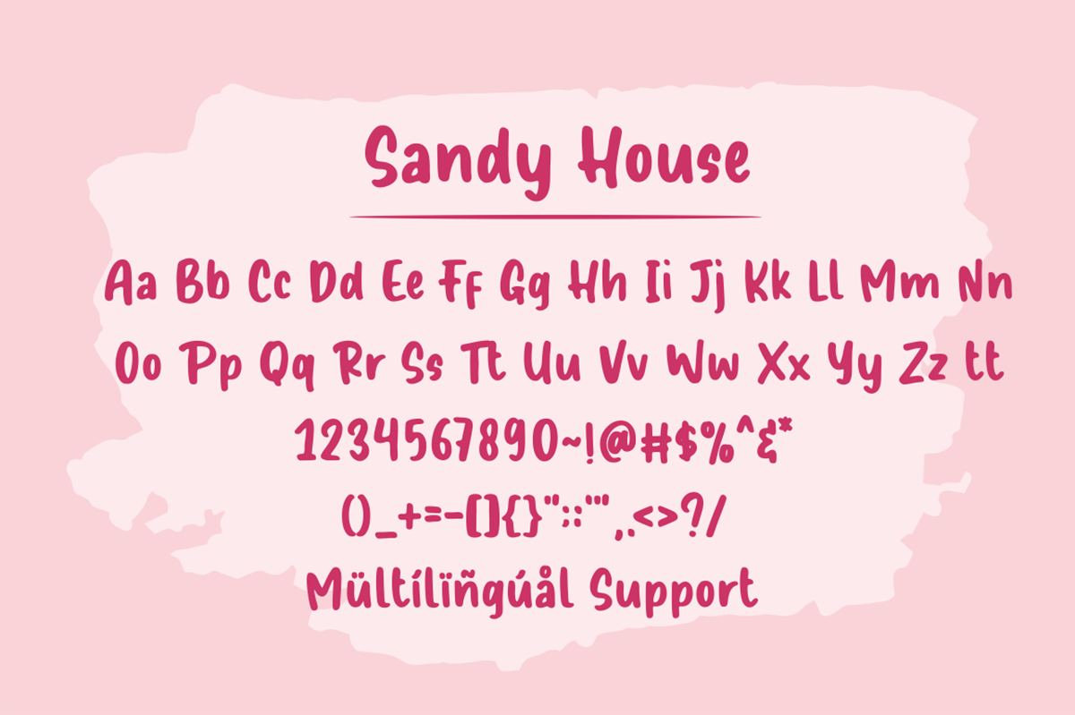 Sandy House Free Font