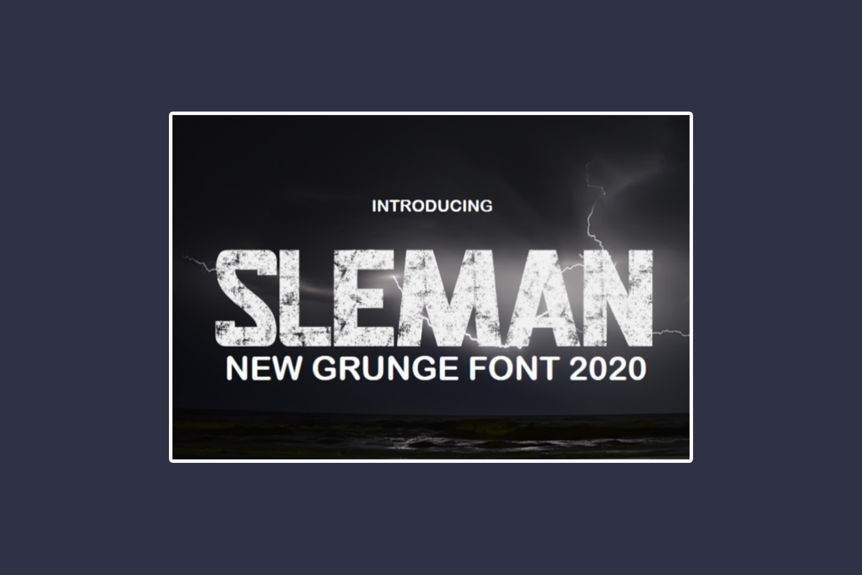 Sleman Free Font