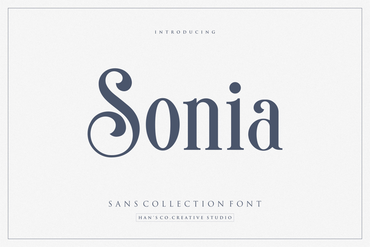 Sonia Free Font