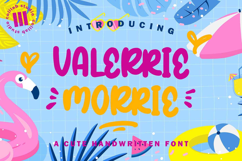 Valeerie Morrie Free Font