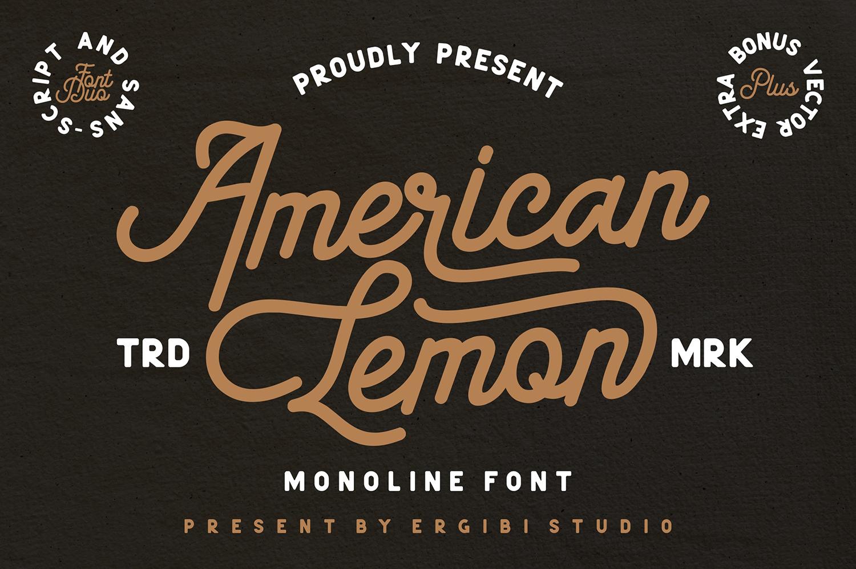 American Lemon Free Font