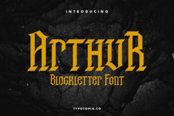 Arthur Blackletter Free Font