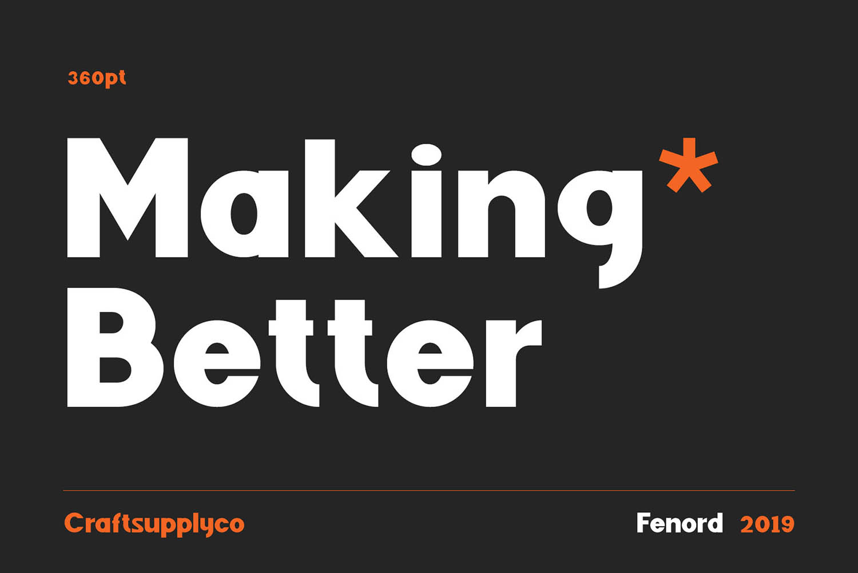 Fenord Free Font