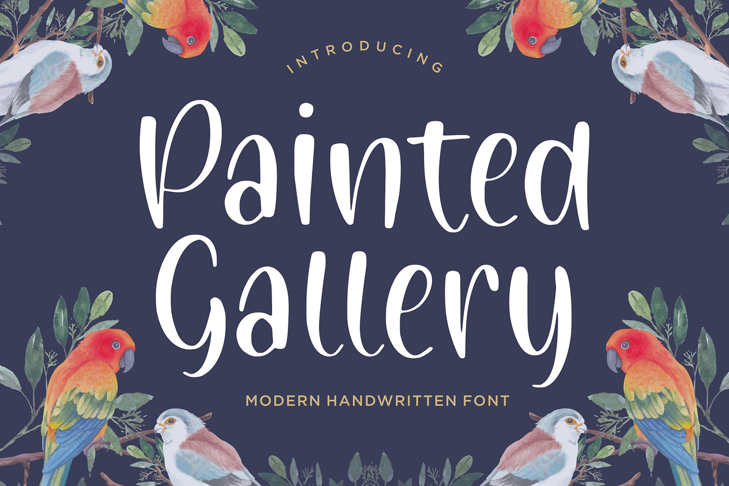 Painted Gallery Free Font